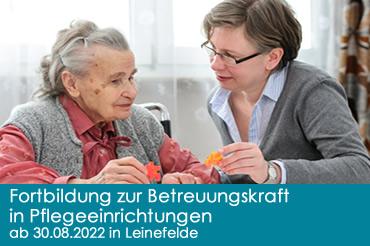 Fortbildung zur Betreuungskraft in Pflegeeinrichtungen