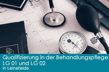 Qualifizierung in der Behandlungspflege <br>LG 01 und LG 02